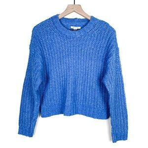 American Eagle Cropped Crew Neck Knit Sweater